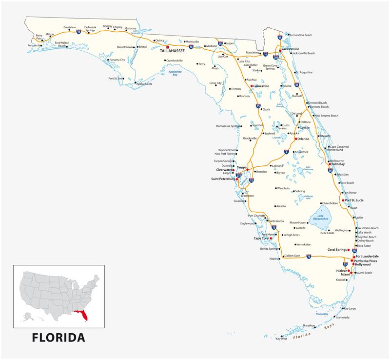 Fernandina Beach FL City Map Dumpster Rentals